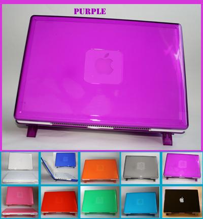 Purple hard shell case for MacBook