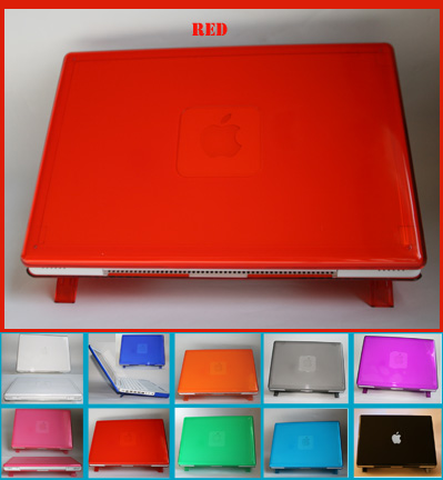 RED hard shell case for MacBook