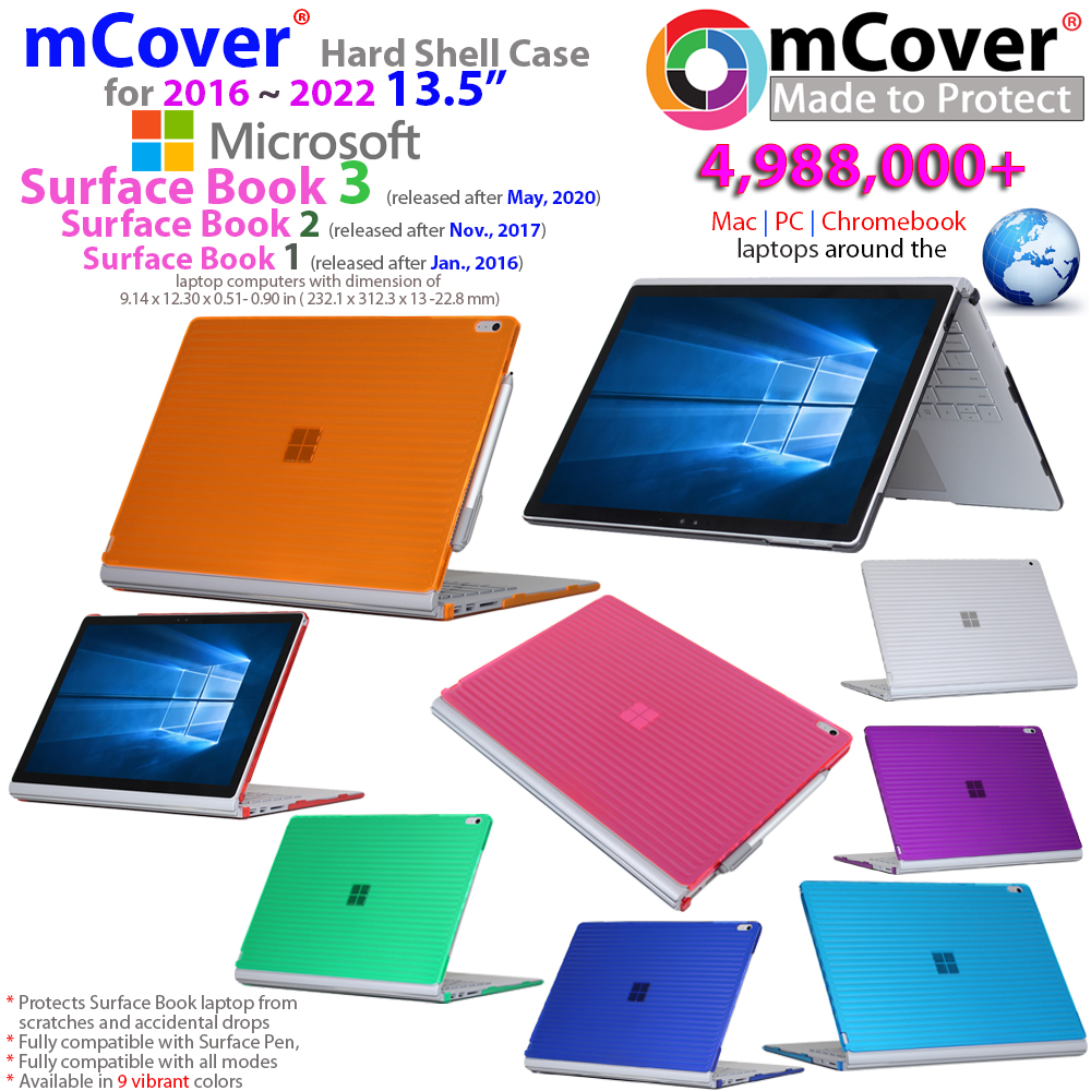 new mcover hard shell case for 13 5 inch microsoft surface book laptop ebay. Black Bedroom Furniture Sets. Home Design Ideas
