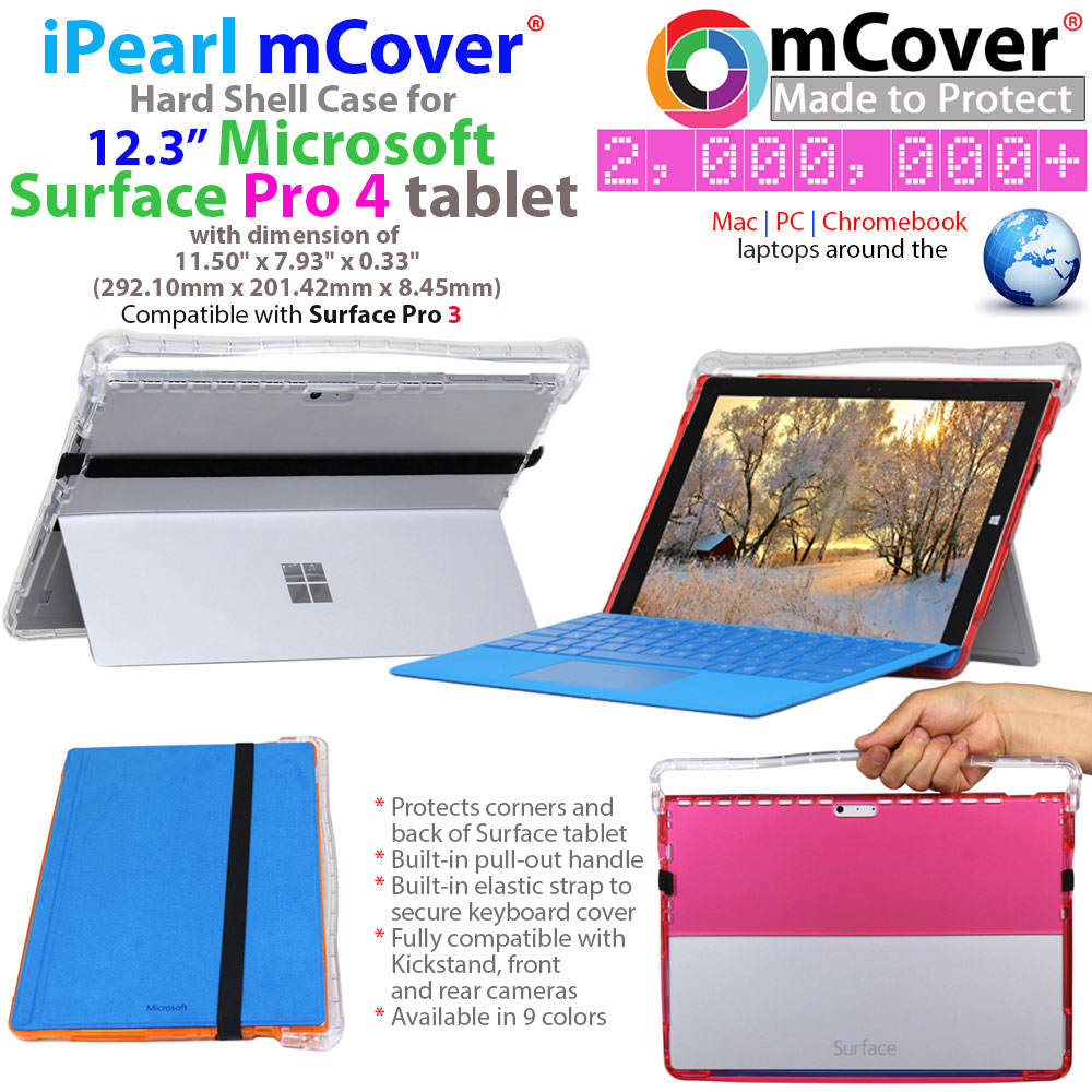 mCover Hard  				Shell case for Microsoft Surface 4 Pro