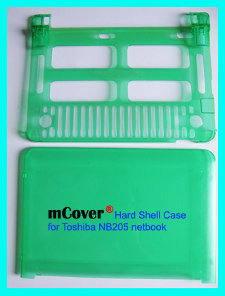 GREEN hard case for Toshiba NB205 Netbook