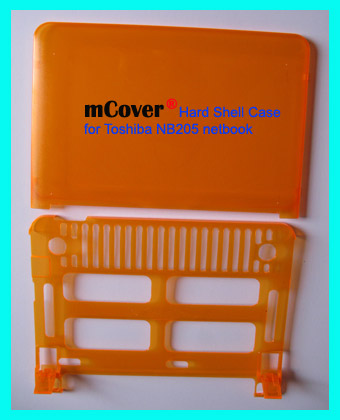 ORANGE hard case for Toshiba NB205  			Netbook