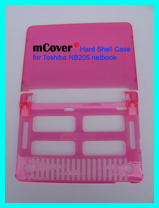 PINK hard shell case for Toshiba NB205  			10-inc Netbook