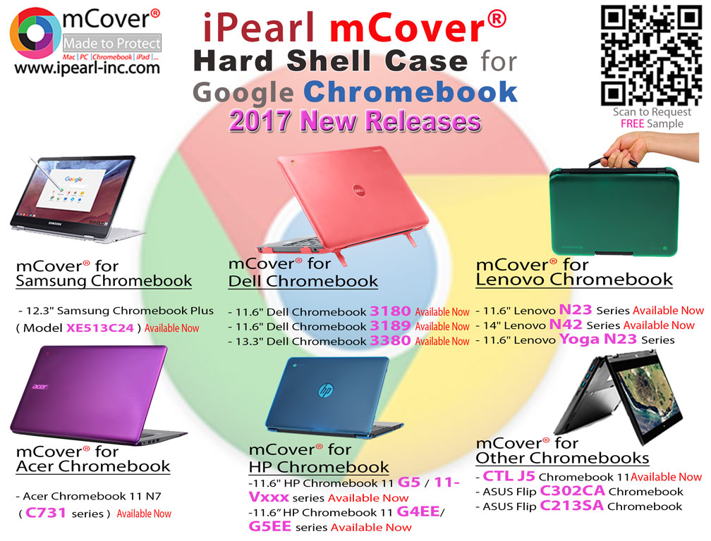 iPearl 2017 new releases for Chromebooks