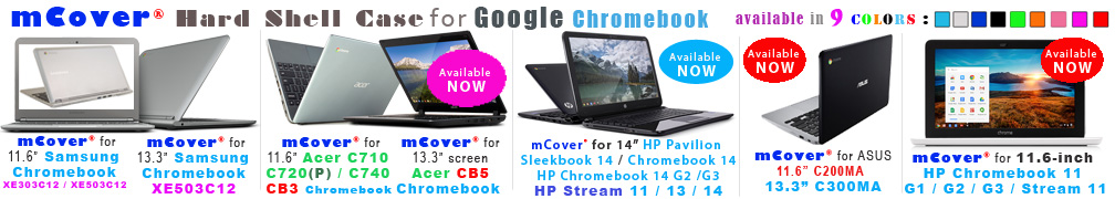 iPearl mCover for Google Chromebook                                laptops
