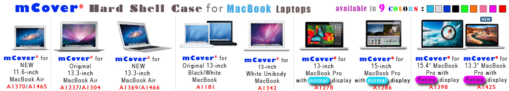 mCover for Apple                 MacBook banner image