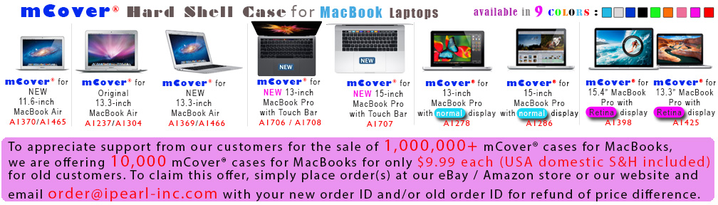 mCover for AppleMacBook banner Free 1 million