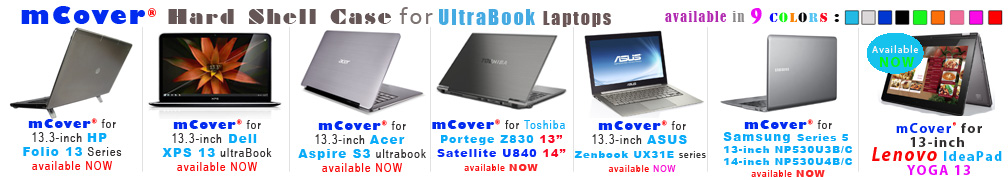 iPearl mCover for Ultrabook laptops