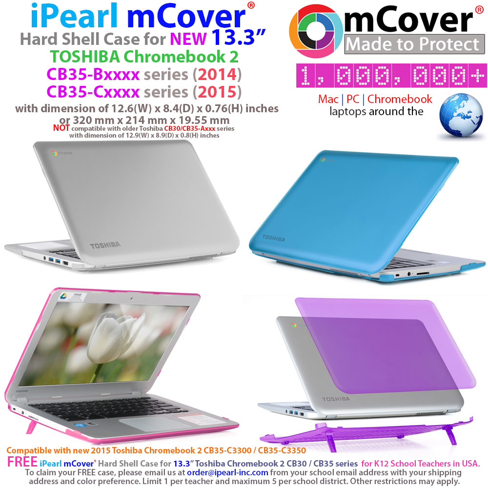 mCover Hard Shell case for Toshiba  				CB35 series Chromebook