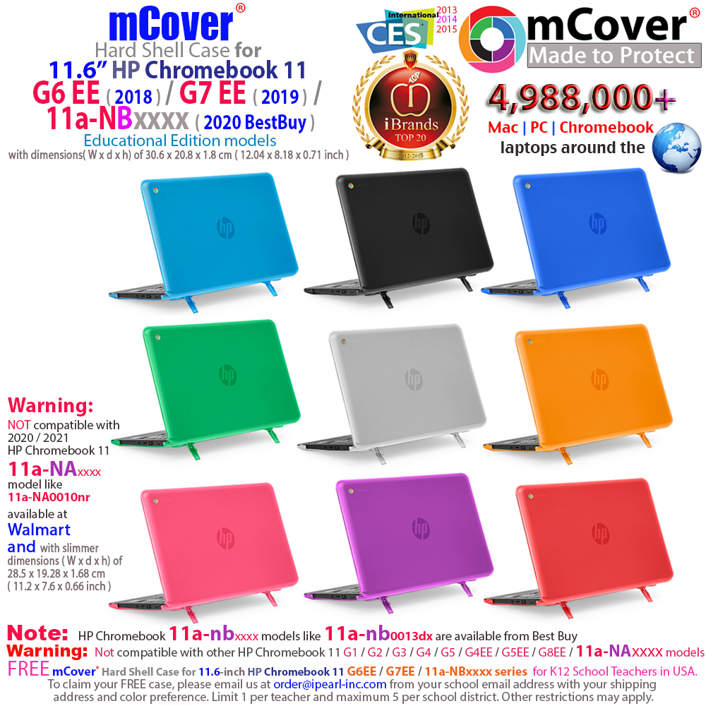 mCover Hard Shell case for 	HP Chromebook 11 G6 EE 11.6-inch
