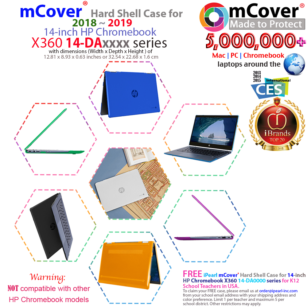 New Clear Mcover Hard Case For 14 Hp Chromebook X360 14 Daxxxx Series Laptop 649242009701 Ebay