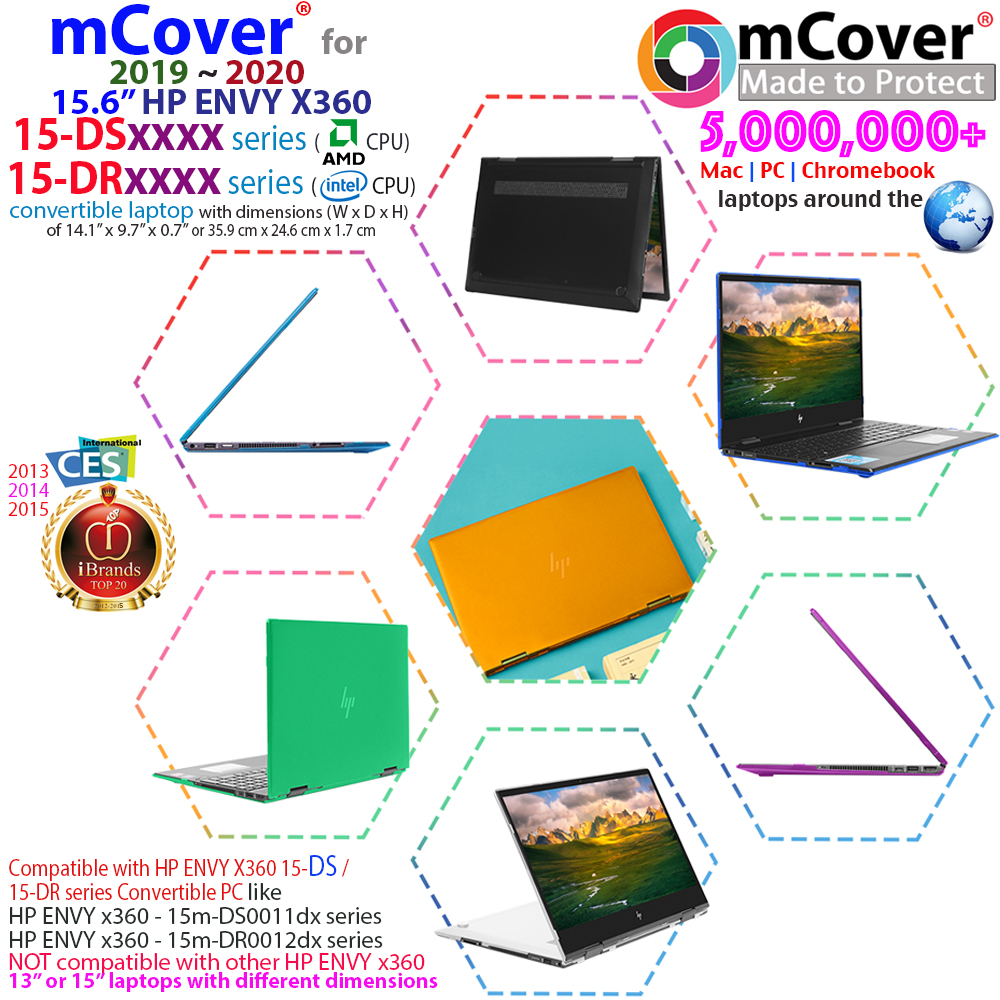 New Mcover Hard Shell Case For 15 6 Hp Envy X360 15 Dsxxxx 15 Dr0000 Laptop Ebay