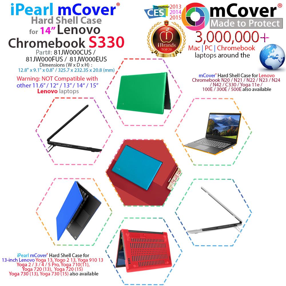 mCover Hard Shell case for Lenovo S330 series Chromebook laptop