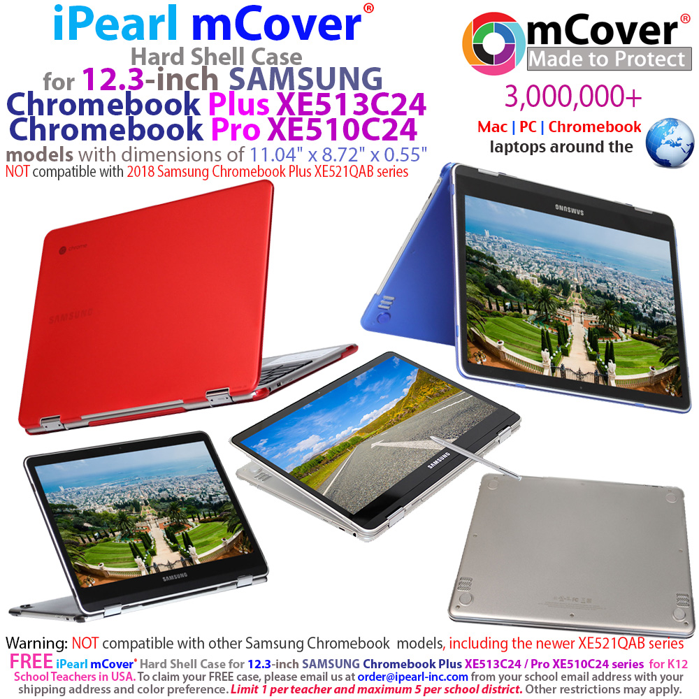 Case Cover for Samsung 12.3 Inch Chromebook Plus XE513C24 Protective Hard Shell